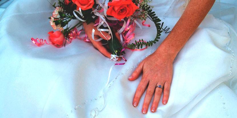 el blanco, distintivo del vestido de novia